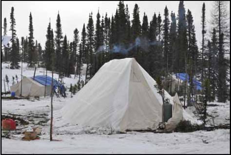 Photograph of a traditional Innu tent.