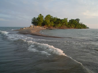 Photograph of an island