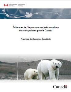 Couverture de la publication : Évidences de l'importance socio-économique des ours polaires pour le Canada
